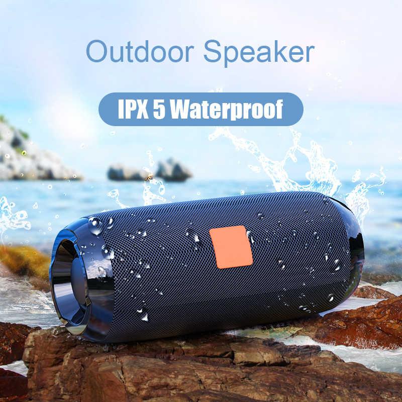 TG117 Portable Bluetooth Speaker 10w Wireless Bass Column Waterproof Outdoor Speaker AUX TF USB Subwoofer Stereo Loudspeaker