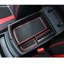 Central Armrest Storage Box Container Interior Stowing Tidying Accessories Car Styling For KIA Sportage QL 2019 2018 2017 2016