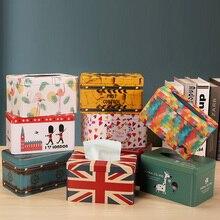 Европейская железная коробка для салфеток, декоративная коробка для домашнего стола, квадратная коробка для салфеток, бумажная коробка для хранения, автоматическая коробка для бумажных полотенец