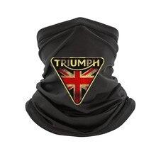 Divertente Uomo t shirt Triumph scarf da Uomo in Cotone bianco scarf magliette tee Nero Mtss15001 MAGLIETTA del Cotone
