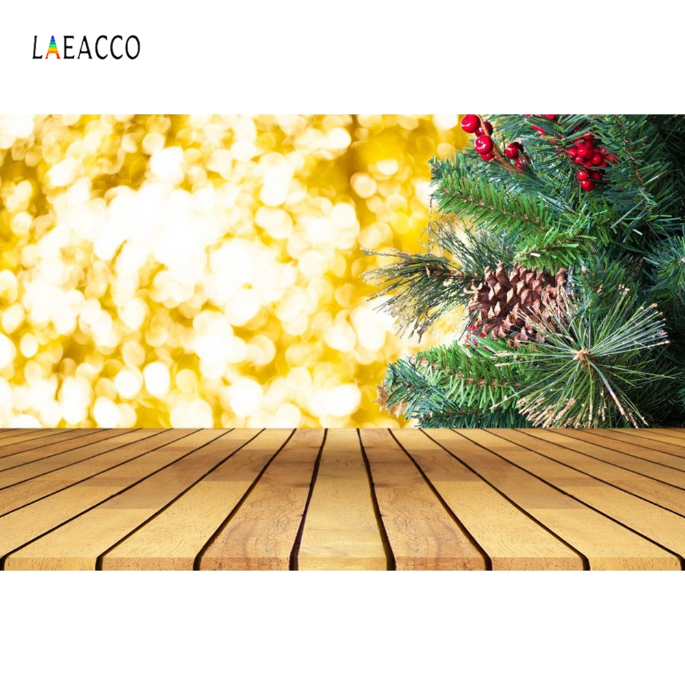 Laeacco Gold Virtual Focus Scene Baby Wood Photocall Photography Backgrounds Customized Photographic Backdrops For Photo Shoots