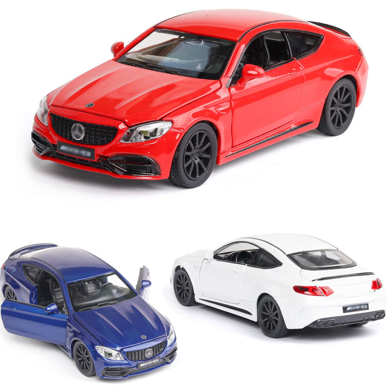 1:32 Free Shipping Alloy Car Mercedes Benz C63s  AMG Car Model Super Sports Sound And Light Back Children Toy Collection