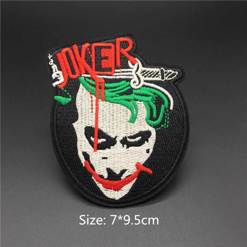 Punk Tengkorak Patch Bordir Pakaian Patch Besi Pada Stiker untuk Jaket Jeans Stirpe Dekorasi DIY Bordiran Lencana Patchwork