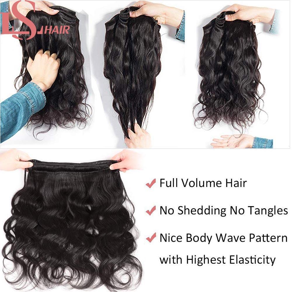 Brazilian Body Wave Human Hair Weave Bundles Extensions 5