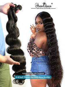Bundles Weft Human-Hair-Weave-Bundles Remy Hair Body-Wave Prom-Queen Double-Machine Brazilian