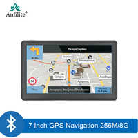 Anfilite 7 pulgadas HD GPS para coche de navegación Windows CE Bluetooth AVIN pantalla capacitiva FM 8GB ddr 256MB camión de vehículo GPS navigator
