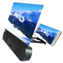 Newest 12Inch 3D Screen Magnifier with Bluetooth Speaker Movies Amplifier for IOS Android Phones