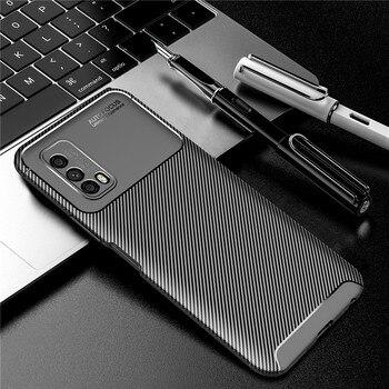 Перейти на Алиэкспресс и купить Чехол из углеродного волокна для ViVo IQOO Z1X, чехол IQOO Neo3 Z1, мягкий защитный бампер для телефона ViVo IQOO Z1X Z1 Neo3 5G Funda