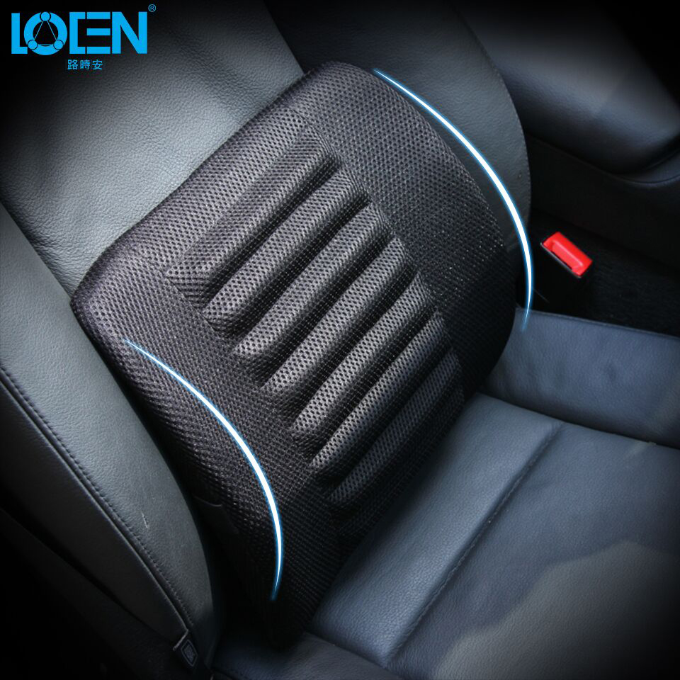 Universal Mesh Black Car Seat Back Cushion Lumbar Support Waist Cushions Cotton Seat Cover Office Home Auto Interior Accessories