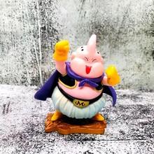 Dragon Ball Z Majin Boo Buu Initial Forming Lovely Fat Buu Biscuit PVC Action Figure DBZ Goku Fighter Model Toy 9cm 15cm dragon ball z super saiyan shf majin buu android 21 girl ultimate form ver pvc action figure dbz buu model toys gifts