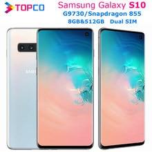 Samsung Galaxy S10 G9730 512GB çift Sim orijinal Unlocked cep telefonu = = = = = = = = = = = = Snapdragon 855 Octa çekirdek 6.1