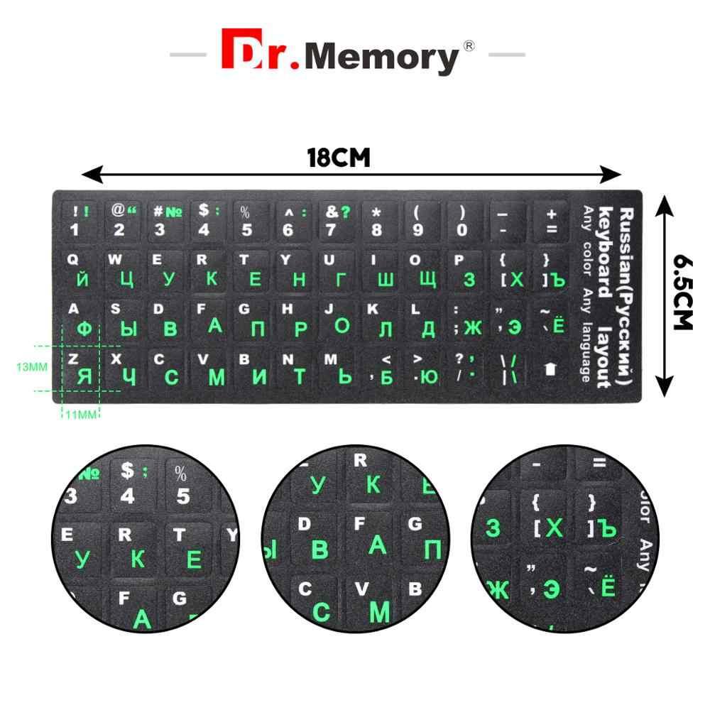 Autocollants de clavier russe espagnol français arabe hébreu portugais clavier autocollants disposition remplacement lettres autocollant