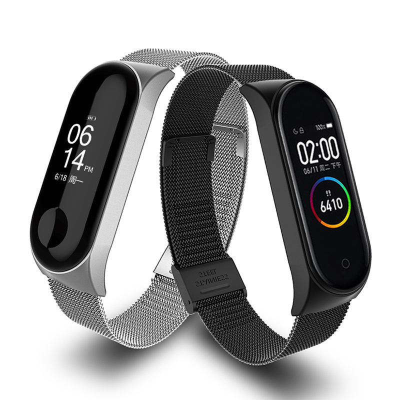 2020 Smart Watch Metal Stainless Steel Strap For Xiaomi Mi Band 3 4 Wrist Strap For Xiaomi Miband 3 4 Bracelet For Mi Band 3
