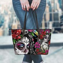FORUDESIGNS Gothic Girls Skull Brand Women's Bags High Quality Female Large Capaicity Handbags Tote Shopping Bags Beach Hand Bag