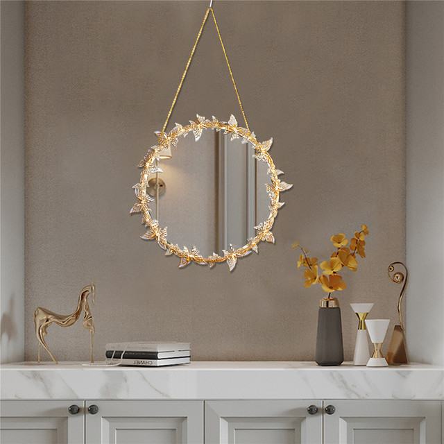 Nordic style Golden Hanging Mirror Butterfly Hanging  Mirror  1