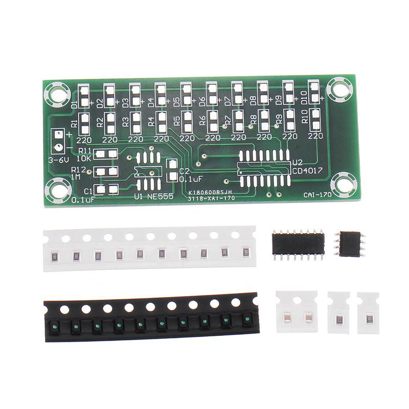 DIY Electronic Kit Set 4017 Water Light Production Kit SMD Components Soldering Parts LED Production Fun Diy Accessory