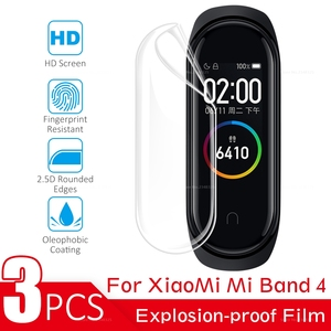 Image 2 - 3PCS/Lot Full Cover Screen Protector Film For Xiaomi Mi Band 4 Bnad4 Smart Bracelet Cover Film For Mi Band 4 Band4 Accessories