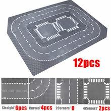 32*32 pontos estrada baseplates clássico blocos de construção brinquedos cidade rua tijolos compatível 32x32 rio placas de base