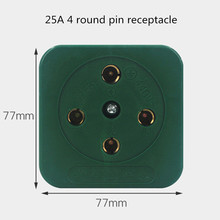1PCS  AC 440V 16A 25A  Green Round Pin Three 3 Phase Four 4 Wire 3P4W 3P 4W  Industrial Plug Socket 440v 15kw three phase low power ac drive for water pump