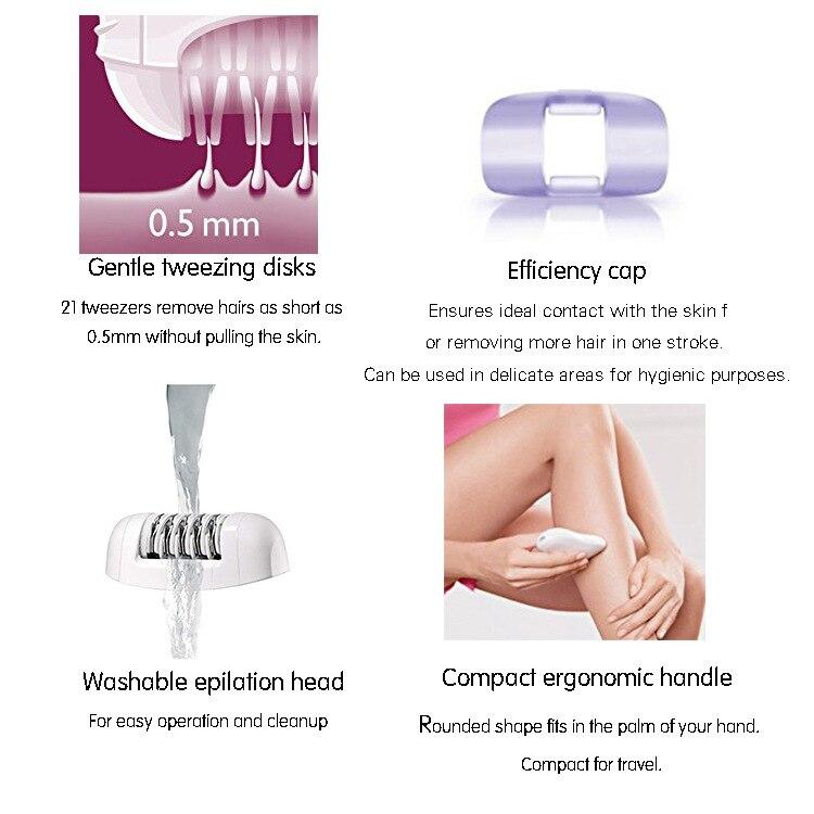 Portátil elétrico rosto depilador para as mulheres