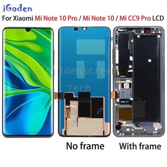 """Ban Đầu Năm 6.47 """"Amoled Màn Hình LCD Thay Thế Cho XiaoMi Mi Note 10 Màn Hình CC9 Pro Màn Hình Cảm Ứng Bộ Số Hóa Cho Mi note10 Pro Màn Hình Lcd"""