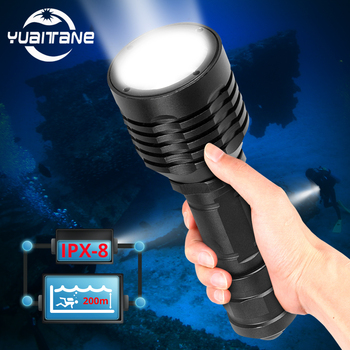 Scuba Diving Light Underwater 200 Meter L2 IP8 Waterproof 3modes USB LED Flashlight Diving Camping Lanterna  Use 18650 waterproof scuba diving 18650 flashlight 14 ledtorch light lamp for diving underwater photographing video
