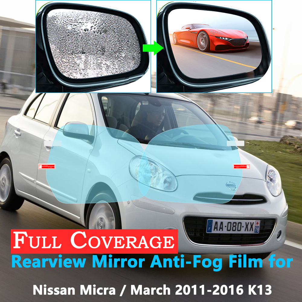 Full Cover Protective Film For Nissan Micra March K13 2011~2016 Rearview Rainproof Anti-Fog Accessories Car Stickers 2015 2014