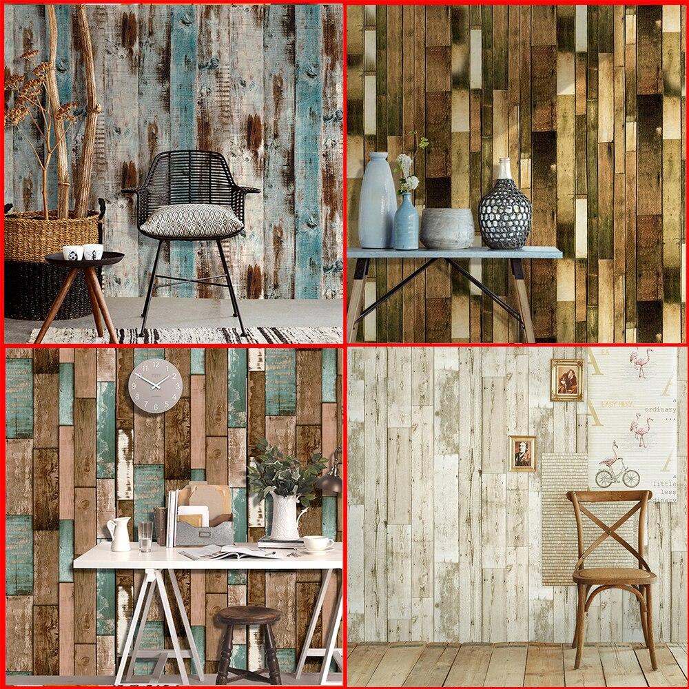 Waterproof PVC Self Adhesive Vinyl Wood Wallpaper Roll For Living Room Kitchen Kids Room Bedroom Walls