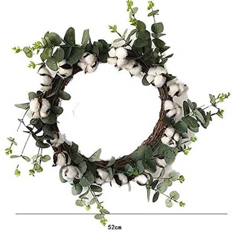 Cotton Vòng Nông Trang Bông Tự Nhiên BOLL Cổ Hoa Vòng Vòng Hoa Và Nhân Tạo Xanh Lá Retro Vòng Hoa