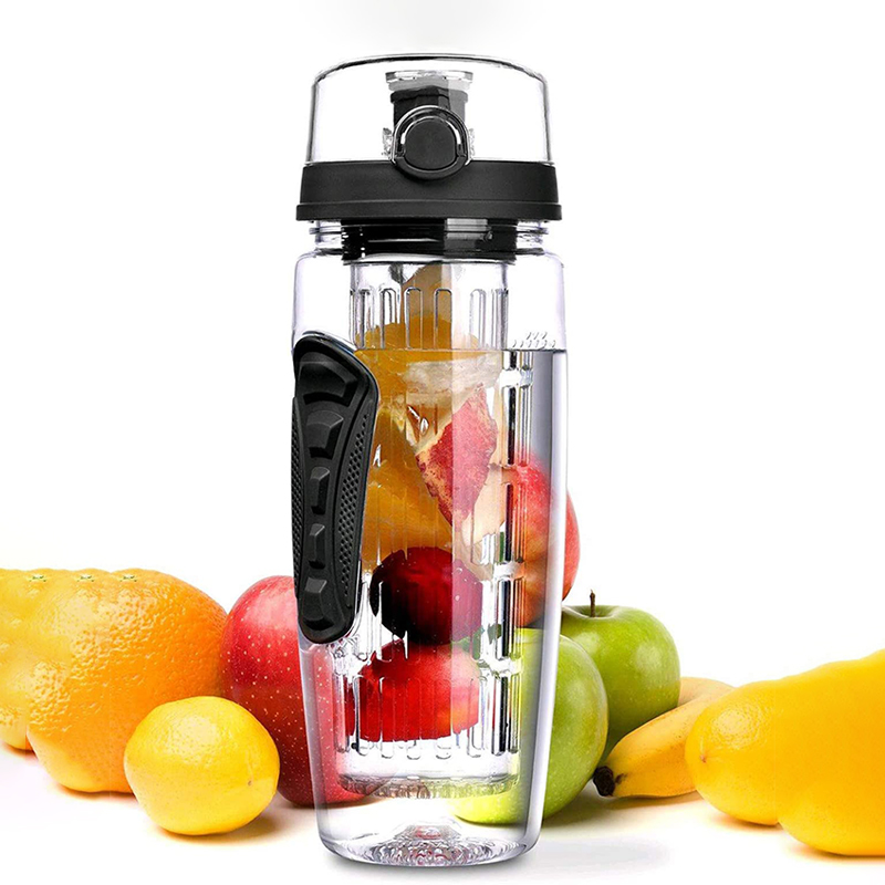32OZ Sports Water Bottle Fruit Infuser Outdoor Bottles BPA Free Flip Top Lid Drinkware For Travel Camping Equipment ECO Friendly|Water Bottles|   - AliExpress