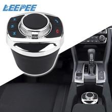 Forma do copo led luz acessórios do carro para o jogador de navegação do carro android 8 chaves botão controle volante sem fio do carro