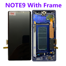 Çerçeve ile orijinal AMOLED Samsung Galaxy NOTE9 N960A N960U N960F N960V LCD ekran dokunmatik ekran meclisi ile nokta