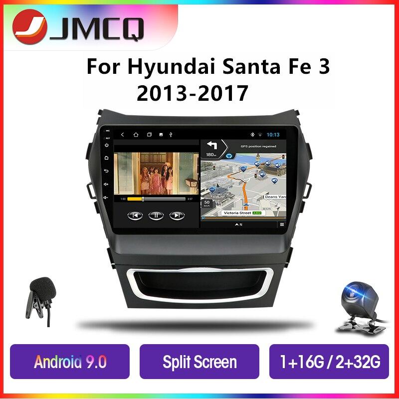 JMCQ Android 9,0 автомобильное радио для Hyundai Santa Fe 3 Grand 2013-2017 мультимедийный плеер GPS навигация плавающее окно Разделенный экран
