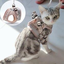 Mode Plaid Kat Harnassen Voor Katten Zomer Mesh Pet Harness En Leash Set Katten Kitty Mascotas Producten Voor Gotas Accessoires