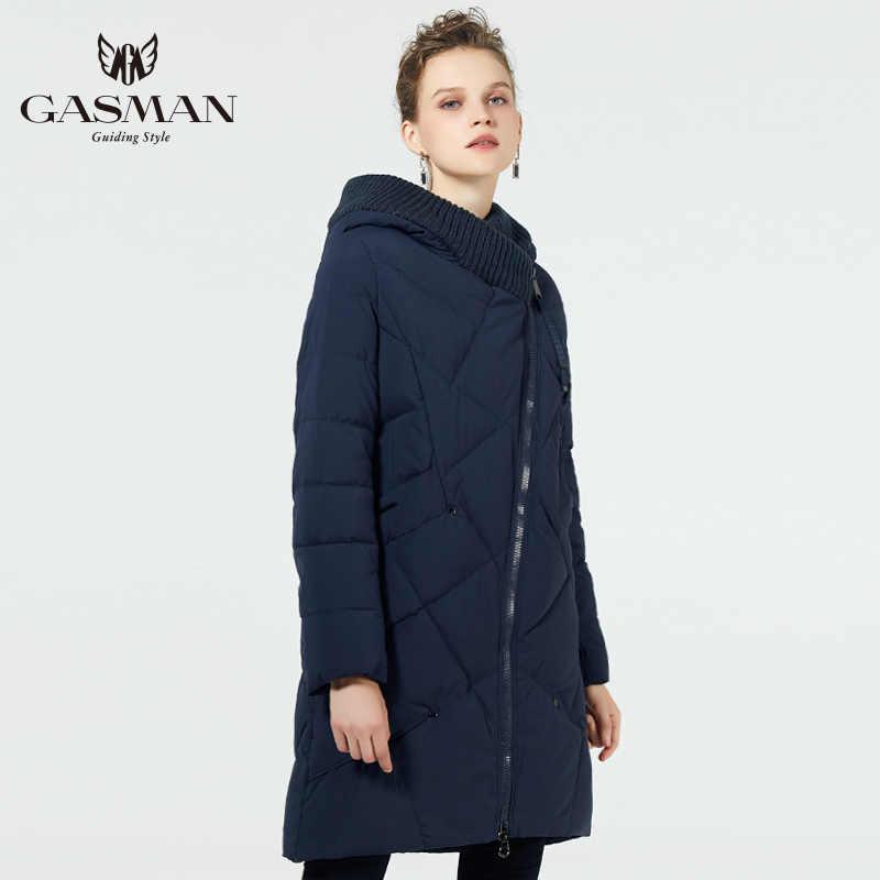 GASMAN 2019 chaqueta cálida con capucha para mujer invierno largo abrigo de moda con capucha cálido Parkas talla grande femenina nueva colección de invierno