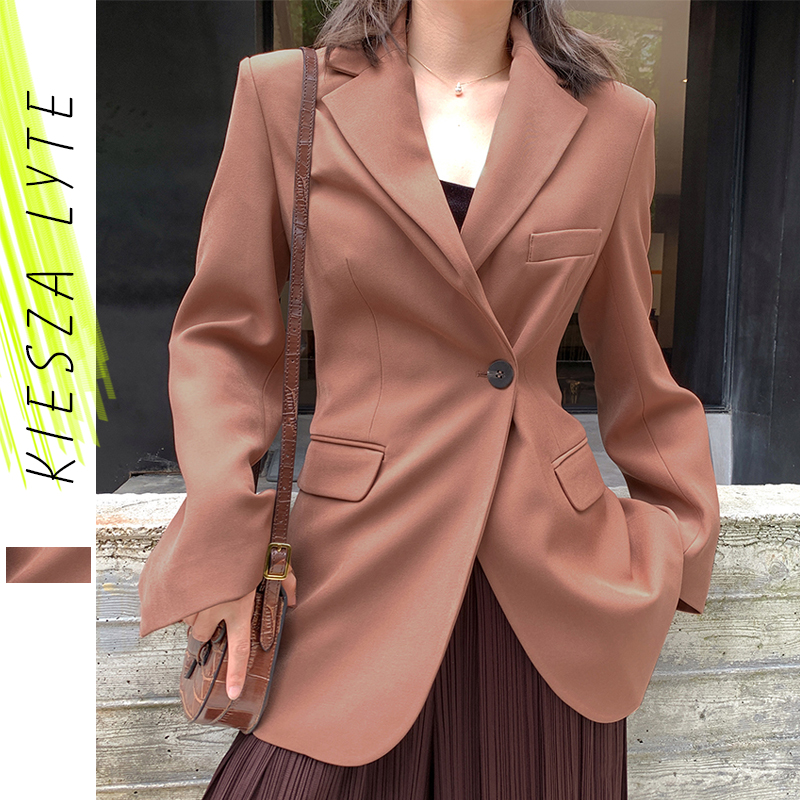 Women Fashion Blazers Spring Autumn 2020 New Korean Style Niche Slim Office Lady Suit Jackets Coat Female Blazer