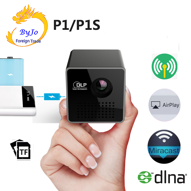 UNIC P1 series P1s bolsillo película Proyector Beamer Mini DLP mini Proyector inalámbrico de proyección Mini cámara para niños juguetes educativos para niños regalos para bebés cumpleaños cámara digital de regalo 1080P cámara de vídeo de proyección