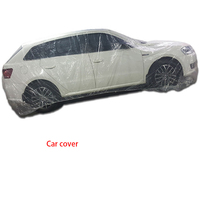 Car disposable car cover waterproof transparent plastic dust cover automatic rain cover dust proof paint universal|Car Covers| |  -
