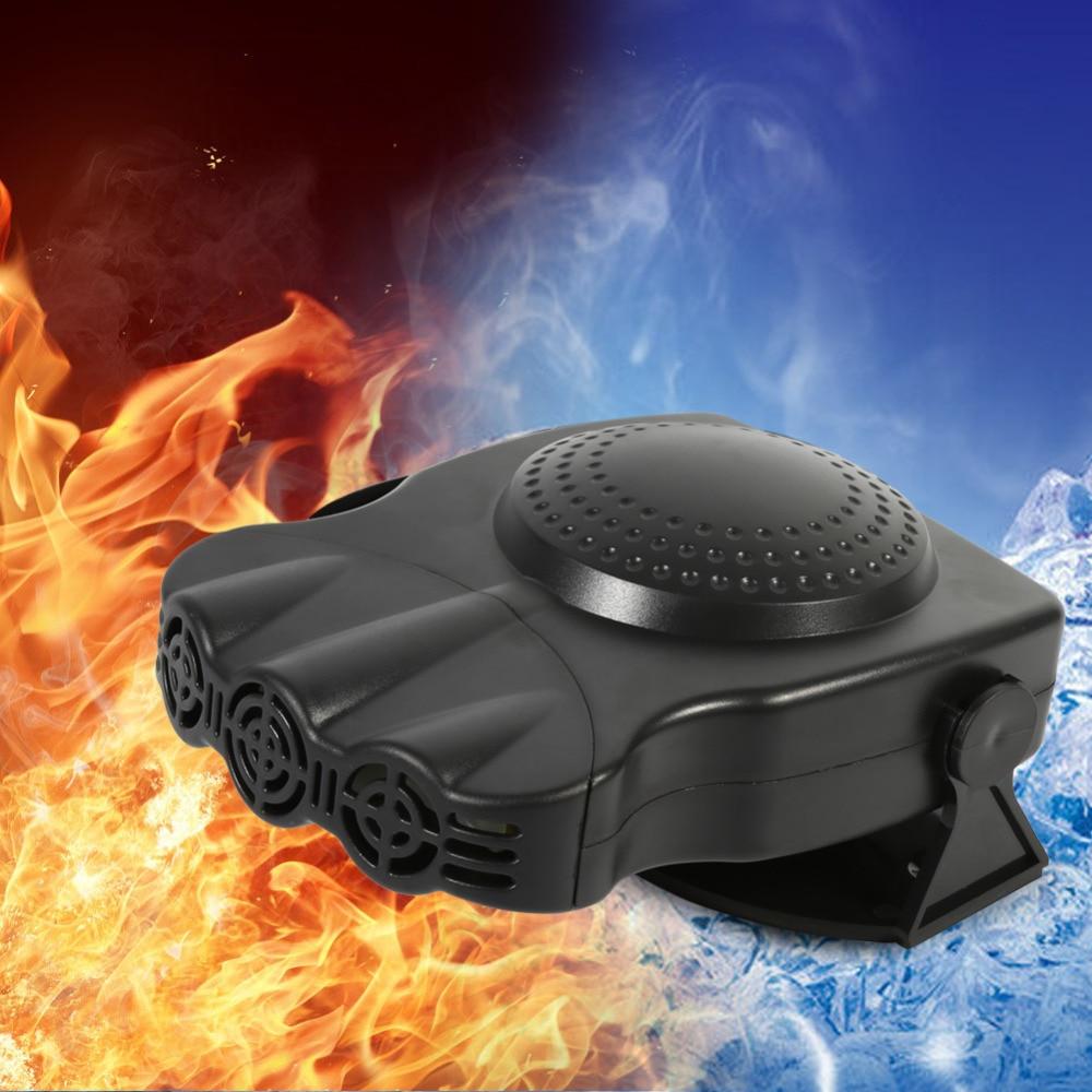 12V 150W Car Vehicle Electric Heater Heating Cool Fan 2 In 1 Windscreen Window Demister Defroster Auto Truck Heater Hot Cool Fan