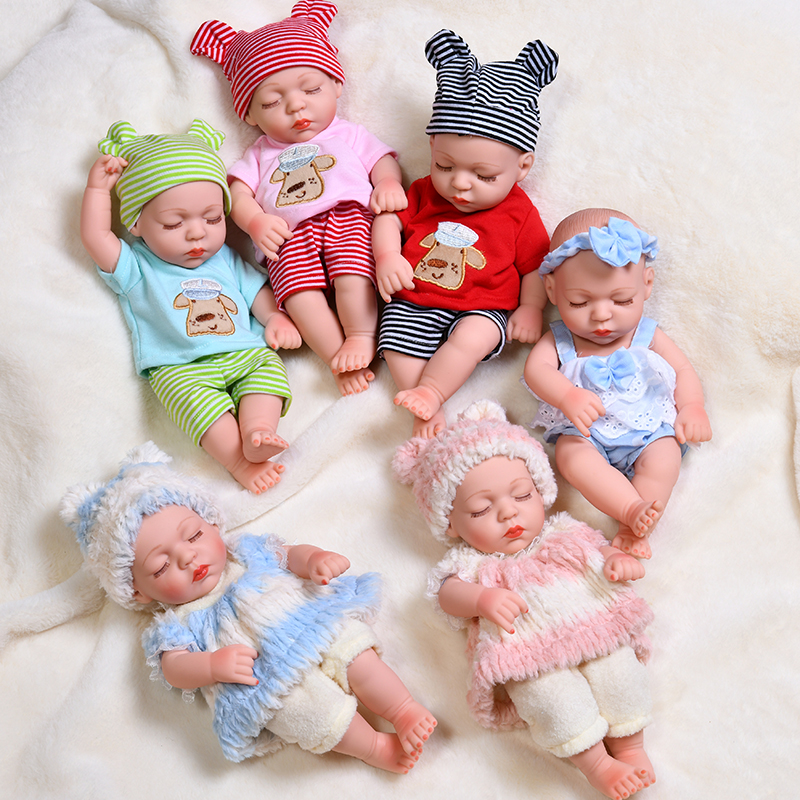 35cm Waterproof Sleeping Reborn Baby Dolls Full Silicone Reborn Baby Body Lifelike Alive Babies Toys Girls For Kids Gift Dolls