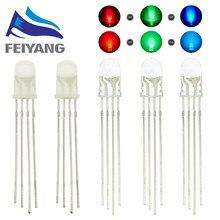 100 sztuk 5mm dioda LED RGB mikro wskaźnik czerwony zielony niebieski Multicolor wspólna anoda katoda 3V DIY PCB obwodu żarówki