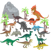 19pcs/lot Dinosaur World Tyrannosaurus Therizinosaurus Spinosaurus Action Figures Jurassic Dinosaurs Model Toys For Children стоимость