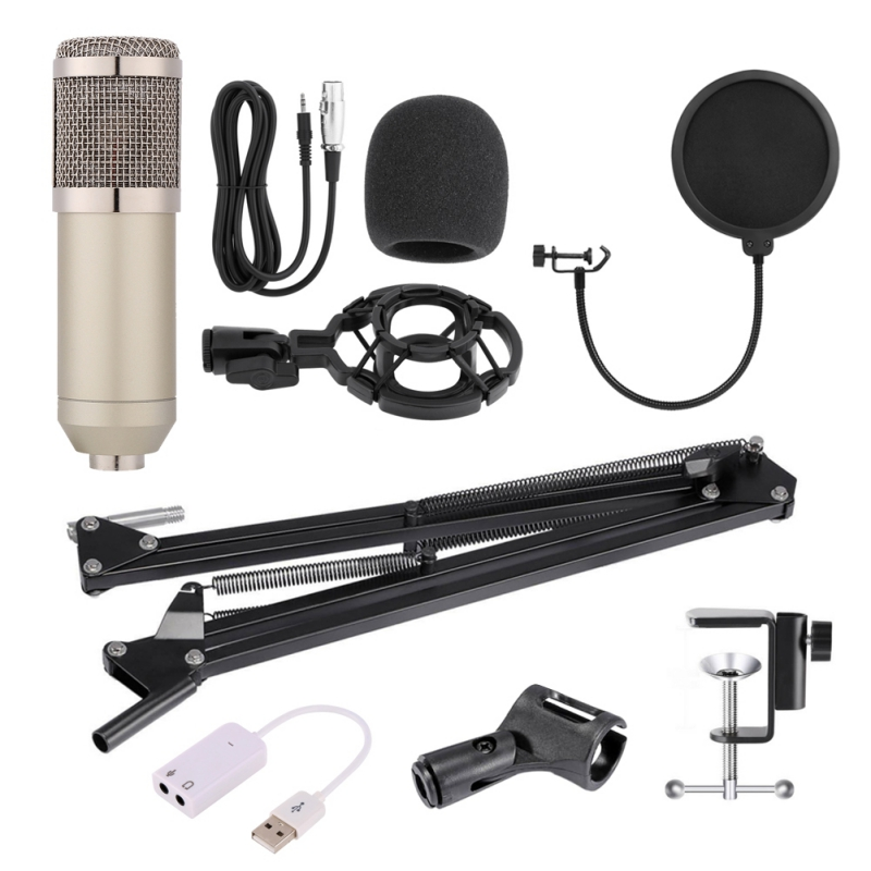 Nouveau BM-800 Microphone à condensateur professionnel pour ordinateur Audio Studio enregistrement Vocal micro KTV avec pied de Microphone