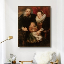 Canvas Art Oil Painting《Family portrait》Antony van Dyck Art Poster Picture Wall Decor Modern Home Decoration For Living room