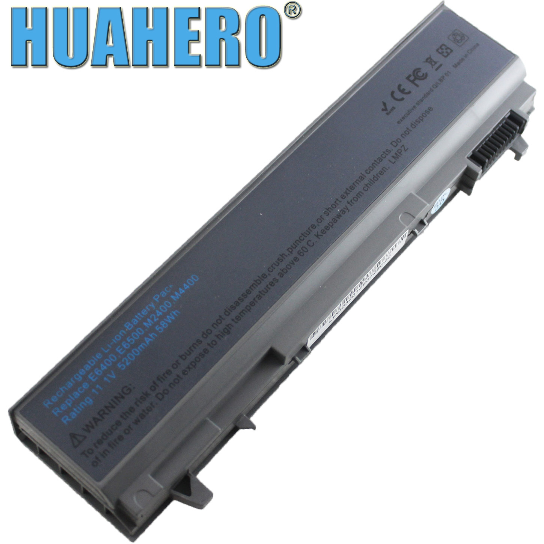 Аккумулятор HUAHERO для Dell Latitude E6400 E6410 E6500 E6510 KY477 PT434 W1193 U844G 312-0748 312-0754 312-0917 451-10583 FU268 PC