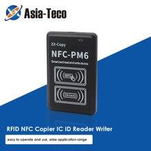 Nova versão em inglês nfc pm6 cartão inteligente chave 125khz rfid com função de decodificação completa copiadora nfc id leitor duplicador