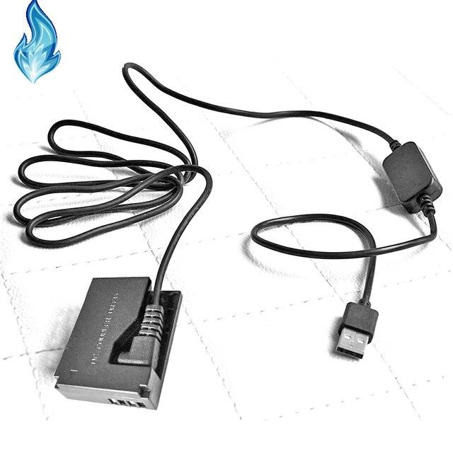 DR E15 5V 2A 3A CA PS700 USB כבלי חשמל + LP E12 ACK E15 סוללה DC מצמד עבור Canon EOS Rebel SL1 100D דיגיטלי מצלמה