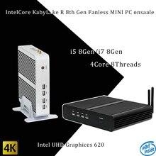 Mais novo Kaby Lago R 8Gen pc Fanless i5 8250u/UHD 620 win10 8550u Intel i7 Quad Core 8 Tópicos DDR4 2133 2400 NUC Freeshipping pc