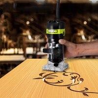 650W Trimming Machine Multi function Slot machine Woodworking Engraving Electromechanical Wood Milling Hole Machine WU619