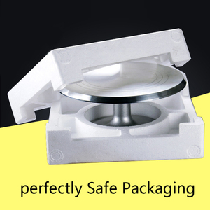 Image 5 - free ship Baking tool 12 inch alloy mounted cream cake Turntable Rotating table stand base turn around Decorating silver metal